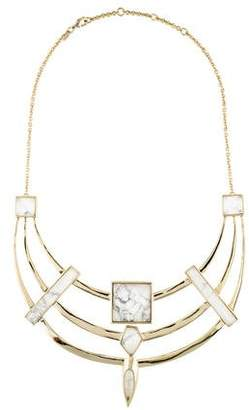 Alexis Bittar Marble Shield Necklace $195 thestylecure.com