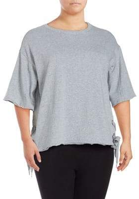 Calvin Klein Plus Boxy Lace-Up Pullover