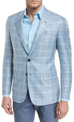 Giorgio Armani Viscose Plaid Sport Coat