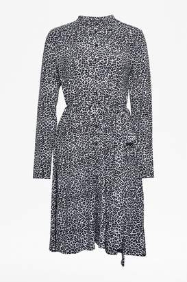 French Connection Animal Print Jersey Shirt Dress