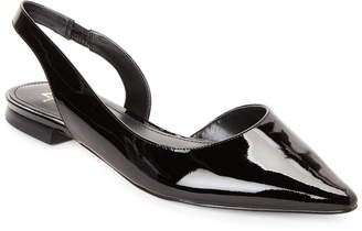 55a64fb4edc Marc Fisher Black Sessily Pointed Toe Slingback Flats