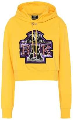 Balmain X Beyoncé cropped hoodie