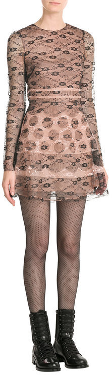 RED Valentino R.E.D. Valentino Dress with Lace Overlay