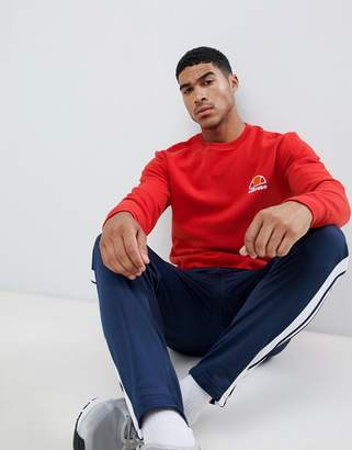 Ellesse Sweatshirt With Small Logo In Red
