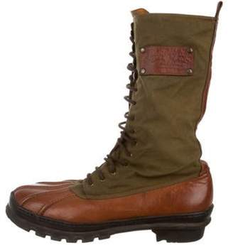 Ralph Lauren Leather Mid-Calf Boots Brown Leather Mid-Calf Boots