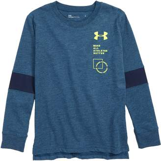 Under Armour Stacked Neon Logo T-Shirt