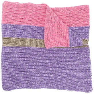 Cashmere In Love oversized striped scarf