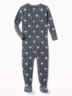Old Navy Bear-Print Footed Sleeper for Toddler Boys