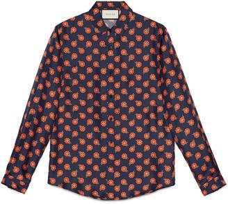 Floral print silk duke shirt $590 thestylecure.com