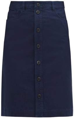 A.P.C. Therese Cotton Skirt - Womens - Indigo