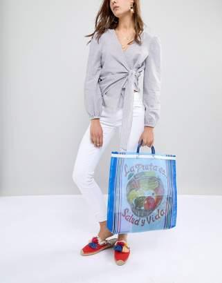 N. Rock 'N' Rose Rock Rose Striped Shopper Bag