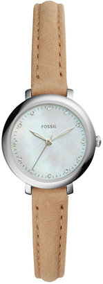 Fossil Women's Jacqueline Light Brown Leather Strap Watch 26mm ES4084 $105 thestylecure.com