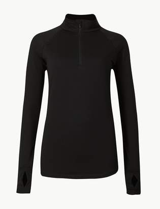 Marks and Spencer Quick Dry Half Zip Run Top