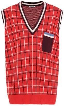 Miu Miu Oversized wool sweater vest