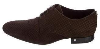 Louis Vuitton Damier Suede Derby Shoes