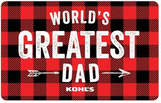 Kohl's World's Greatest Dad Gift Card