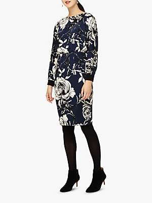 Phase Eight Romy Floral Print Dress, Navy/Multi