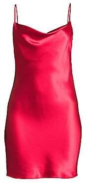 Fleur Du Mal Women's Cowlneck Silk Slip
