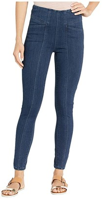 Liverpool Reese High-Rise Ankle Skinny Leggings w/ Slant Pockets in Silky Soft Denim in Breckenridge