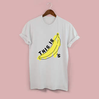 Squiffy Print This Is Bananas Unisex T Shirt