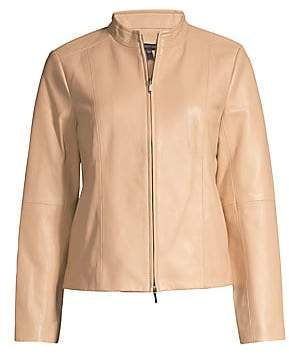 Eileen Fisher Women's Cropped Leather Jacket