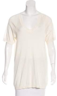 Malo Silk-Blend Short Sleeve Top