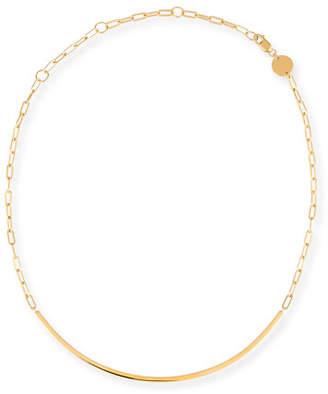Jennifer Zeuner Jewelry Cecelia Golden Chain Collar Necklace