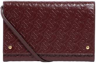 Burberry Leather Logo-Embossed Clutch Bag