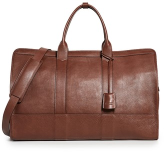 Lotuff Leather Duffel Travel Bag with Pocket