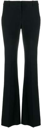 Alexander McQueen satin tape flared trousers