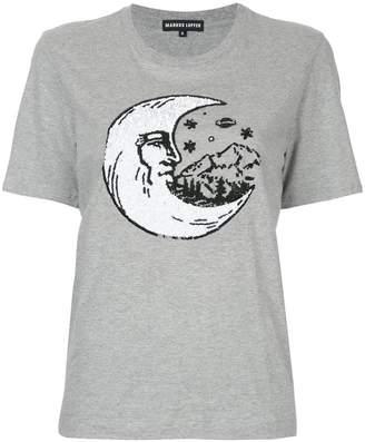 Markus Lupfer sequin moon T-shirt
