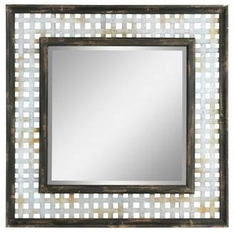 Aspire Home Accents Bergen Square Farmhouse Wall Mirror