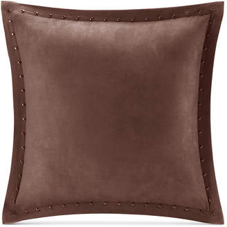 "Madison Park Alban Faux-Suede 20"" Square Studded Decorative Pillow"