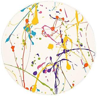 Lisa Perry Reversible Paint-Splatter-Print Circular Placemat