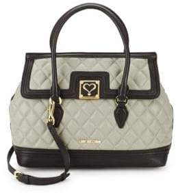Love Moschino Classic Quilted Satchel