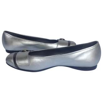 Hogan Silver Leather Ballet flats