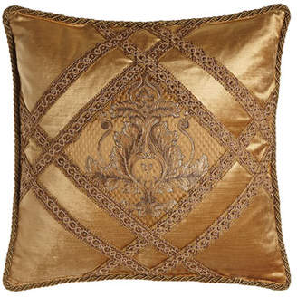 "Dian Austin Couture Home Camilla Pillow, 19""Sq."