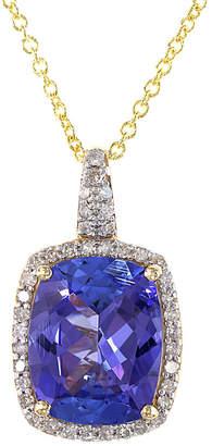Effy Fine Jewelry 14K 3.76 Ct. Tw. Diamond & Tanzanite Necklace