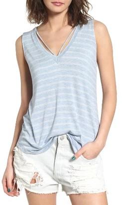 Women's Lush Strap Neck Stripe Tank $32 thestylecure.com