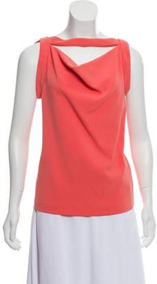 Balenciaga Sleeveless Knit Top Coral Sleeveless Knit Top
