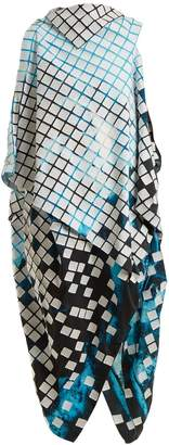 Issey Miyake Spectrum asymmetric draped dress