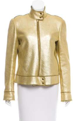 Ungaro Leather Long Sleeve Jacket