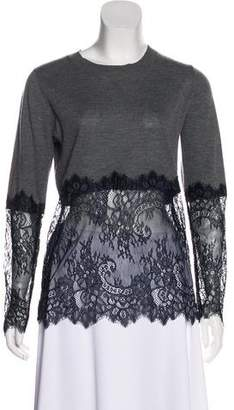 Candela Lace-Trimmed Colorblock Sweater