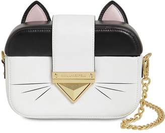 Karl Lagerfeld Paris Leather Cat Clutch