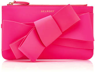 DELPOZO M'O Exclusive Mini Polished Bow Clutch