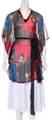 Ermanno Scervino Silk Printed Tunic