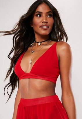69d5c13ab72 Missguided Red Bralet Beach Co Ord