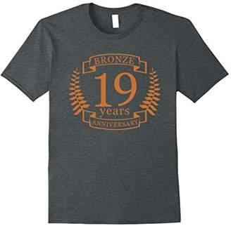 Bronze 19 Years Wedding Anniversary t-shirt