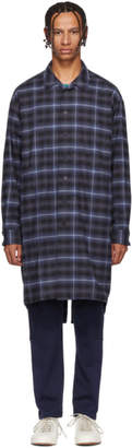 House of the Very Islands Blue Check X-Long Shirt