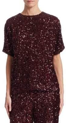 Victoria Beckham Victoria, Square Sequin T-Shirt